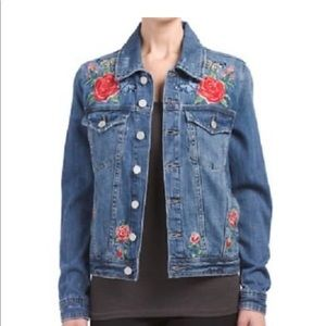 Blank NYC denim embroidered jacket size S